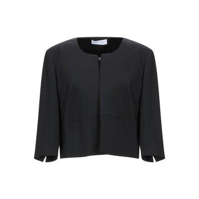 CARACTÈRE テーラードジャケット ブラック 48 ポリエステル 82% / レーヨン 16% / ポリウレタン 2% テーラードジャケット