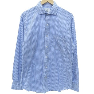 BROOKS BROTHERS チェックシャツ ブルー×ホワイト サイズ:BB3 (フレスポ東大阪店) 190618