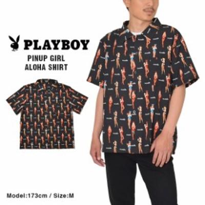 PLAYBOY プレイボーイ アロハシャツ オープンシャツ シャツ メンズ レディース 国内正規品
