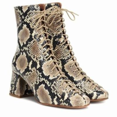 バイ ファー By Far レディース ブーツ ショートブーツ シューズ・靴 Becca snake-effect leather ankle boots Snake Print