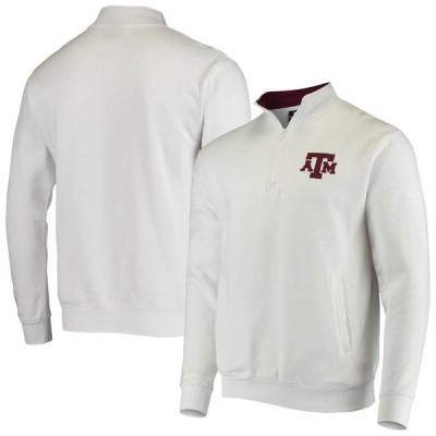 """メンズ ジャケット """"Texas A&M Aggies"""" Colosseum Tortugas Logo Quarter-Zip Jacket - White"""