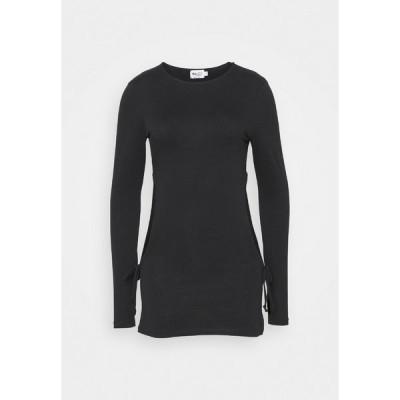 エヌ エー ケイ ディ カットソー レディース トップス CUT OUT DETAIL DRAWSTRING - Long sleeved top - black