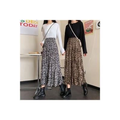 【送料無料】秋冬 韓国風 ファッション デザイン 感 ヒョウ ハイウエスト 着やせ   364331_A63923-0070141