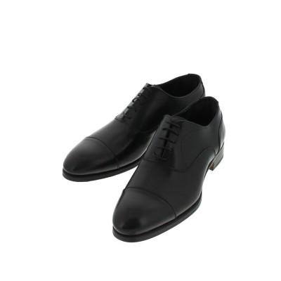 (around the shoes/アラウンドザシューズ)ラウンドキャップトゥ ストレートチップ ドレスシューズ/メンズ ブラック