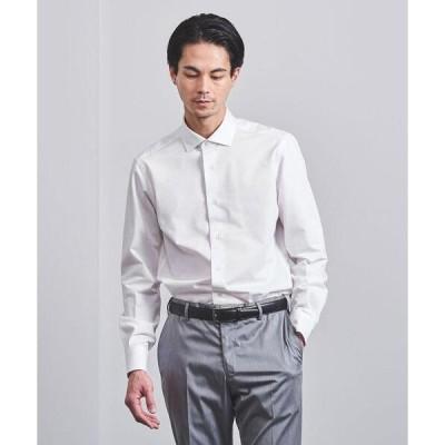シャツ ブラウス <UNITED ARROWS> イージーケア ジャージーツイル ワイドカラーシャツ