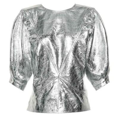 イザベル マラン Isabel Marant レディース トップス Metallic leather top Silver
