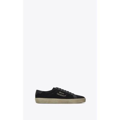 サンローラン SAINT LAURENT スニーカー シューズ 靴 ブラック コットン キャンバス レザー