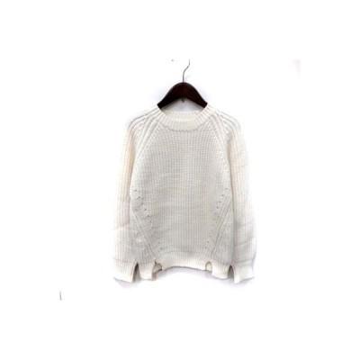 【中古】パリンカ 'PalinkA ニット セーター 長袖 F 白 ホワイト /YI レディース 【ベクトル 古着】