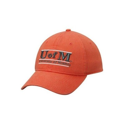 大学 NCAA 海外セレクション The Game Miami Hurricanes Orange U of M Classic Bar Adjustable Hat