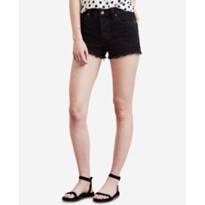 リーバイス レディース ハーフパンツ・ショーツ ボトムス Women's 501 Cotton High-Rise Denim Shorts Lunar Black