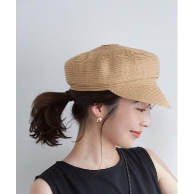 ViS / 【UVカット+抗菌防臭】【ウォッシャブル】ペーパー風キャスケット WOMEN 帽子 > キャスケット