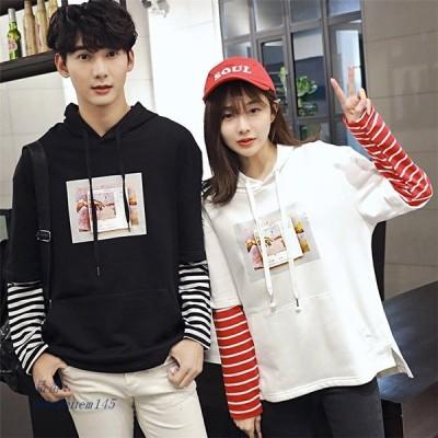 男女ペア ペアルック パーカー ファッション 学生 ファッションーカー 韓国風 激安 sale ペアルックシャツ 韓国風 ファッション カップルペア