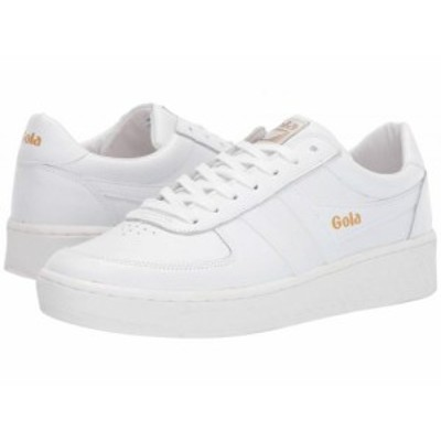 Gola ゴラ メンズ 男性用 シューズ 靴 スニーカー 運動靴 Grandslam Leather White/White/White【送料無料】