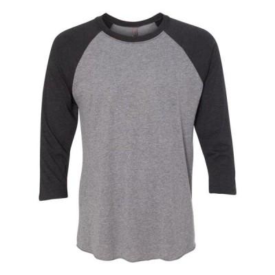 ユニセックス 衣類 トップス Unisex Triblend Three-Quarter Sleeve Raglan Next Level Tシャツ