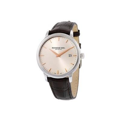 レイモンドウイル 腕時計 Raymond Weil トッカータ シルバー ダイヤル ブラウン レザー メンズ 腕時計 5488-SL5-65001