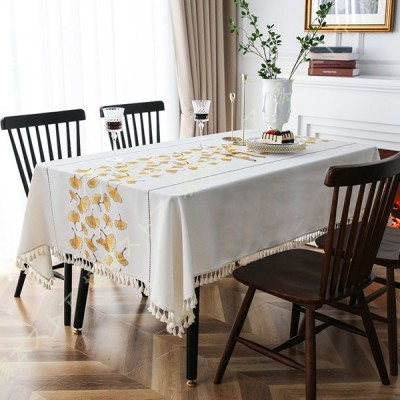 食卓カバー 花柄 耐用 はっ水加工 汚れ防止 長方形 豪華 擦り傷防止 ずれにくい 耐久 エレガント テーブルクロス 卓上装飾 インテリア かわいい