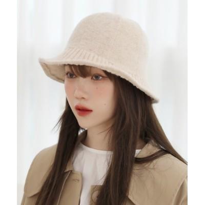 by muni:r / ニットバケットハット WOMEN 帽子 > ハット