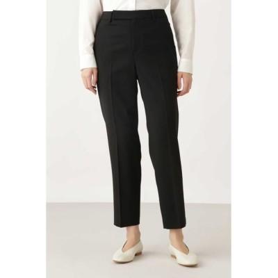 HUMAN WOMAN/ヒューマンウーマン ◆2/72TWストレッチチェック・無地パンツ ブラック L