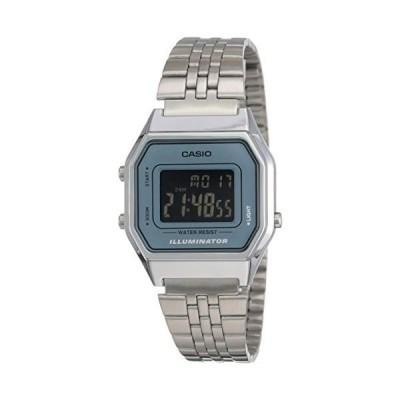腕時計 カシオ レディース LA680WA-2B Casio Ladies Mid-Size Silver Digital Retro Watch LA680WA-2BDF