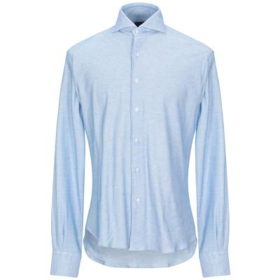 ORIAN シャツ アジュールブルー 44 コットン 100% シャツ