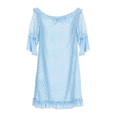 MARY D'ALOIA® ミニワンピース&ドレス スカイブルー 40 100% ポリエステル ミニワンピース&ドレス