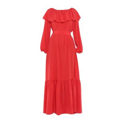 THE ROW ロングワンピース&ドレス レッド S シルク 100% ロングワンピース&ドレス