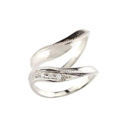 結婚指輪 ペアリング マリッジリング キュービックジルコニア シルバー ストレート カップル メンズ レディース 送料無料