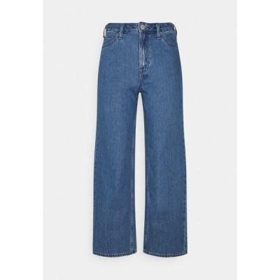 リー デニムパンツ レディース ボトムス WIDE LEG - Relaxed fit jeans - mid stone