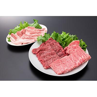 26-[12]【A4ランク以上】山形牛カルビ&モモ&山形県産豚バラ焼肉セット(計600g)