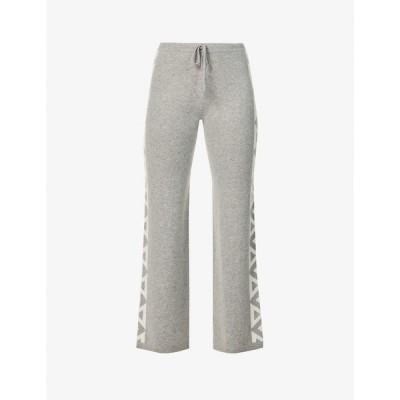 マデリーン トンプソン MADELEINE THOMPSON レディース ボトムス・パンツ Baby Boom geometric-pattern cashmere jogging bottoms GREY CREAM