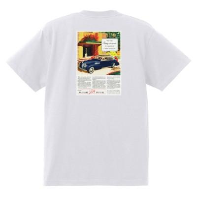 アドバタイジング キャデラックTシャツ 120 白 1939 オールディーズ ロックンロール 1950's1960's ロカビリー ローライダー