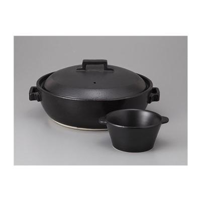 STYLE BLACK8号IH土鍋 スタイリッシュ鍋 黒※小鉢は付属していません