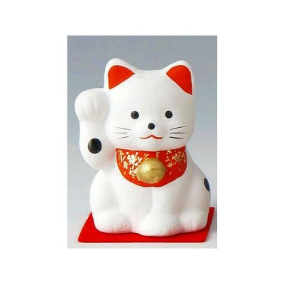 ミニ招き猫 小 白(右) ポイント消化