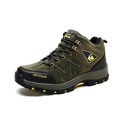 [アッション] トレッキングシューズ メンズ ハイカット ハイキングシューズ 軽量 透湿 防水 防滑 登山靴 釣り 靴 アウトドア キャンプ ハイテッ