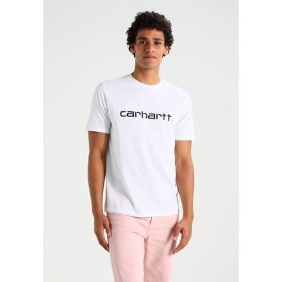 カーハート Tシャツ メンズ トップス SCRIPT - Print T-shirt - white/black