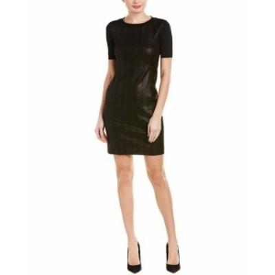 Elie Tahari エリータハリ ファッション ドレス Elie Tahari Emily Leather Shift Dress