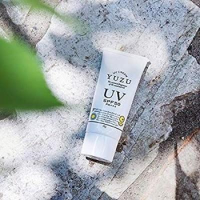 高知県産 YUZU UV クリーム SPF50/PA+++ (顔・からだ用) ゆず クリーム プレゼント 女性 日焼け止め