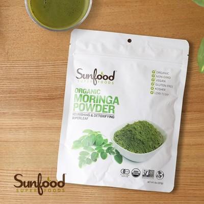 サンフード スーパーフーズ オーガニック モリンガパウダー 227g 美容 健康 サポート インナーケア ヘルシー モリンガ ビタミン ミネラル