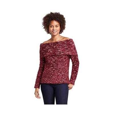 Knox Rose Women's Off The Shoulder Eyelash Sweater (Red) (M)並行輸入品 送料無料