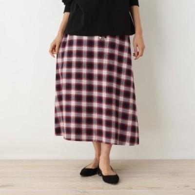 オペークドットクリップ(OPAQUE.CLIP)/【42(LL)WEB限定サイズ】オンブレロングスカート