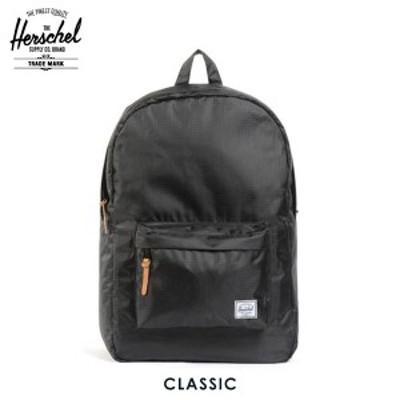 ハーシェル バッグ 正規販売店 Herschel Supply ハーシェルサプライ バッグ 10001-00088-OS Classic Rip Stop Black D15S25