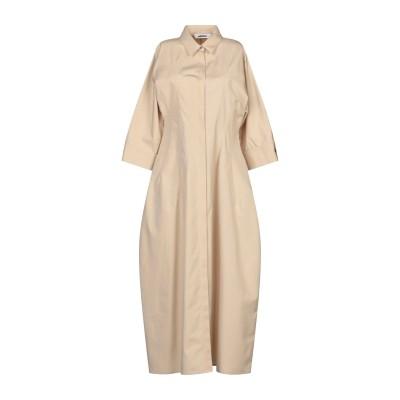 ジル サンダー JIL SANDER 7分丈ワンピース・ドレス ベージュ 40 コットン 100% 7分丈ワンピース・ドレス