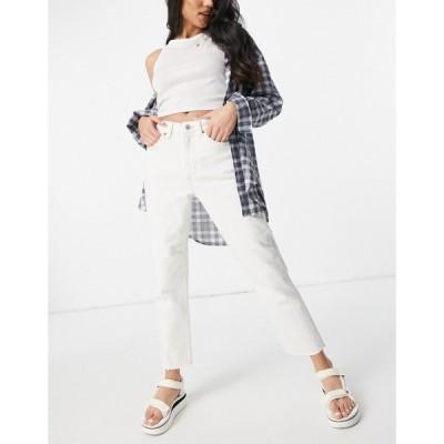 トップショップ Topshop レディース ジーンズ・デニム ボトムス・パンツ Straight Jean in Off-White wash ホワイト