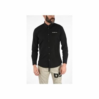 DSQUARED2/ディースクエアード Black メンズ Classic Collar Popeline Shirt dk