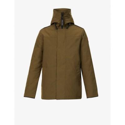 カナダグース CANADA GOOSE メンズ コート アウター Garibaldi funnel-neck stretch-twill coat MILITARY GREEN