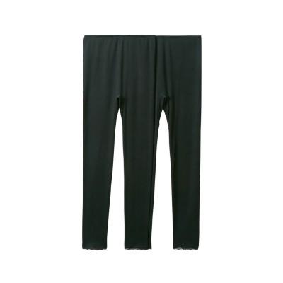 綿混ストレッチ9分丈ボトム2枚組(L) (レギンス・スパッツ・オーバーパンツ)Leggings