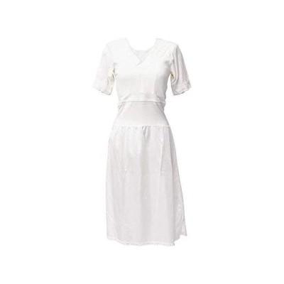 [オオキニ] 着物スリップ 和ぶらスリップ 通年仕様 東レ ワンピース 和装ブラジャーとスリップ一体型 (ホワイト L)