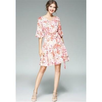 ワンピースカシュクール風お呼ばれ二次会20代40代50代ファッション服装夏結婚式パーティー大きいサイズ