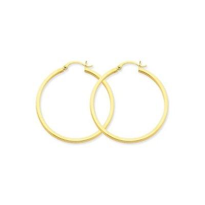 14k 2mm スクエア チューブ フープ Earrings(海外取寄せ品)