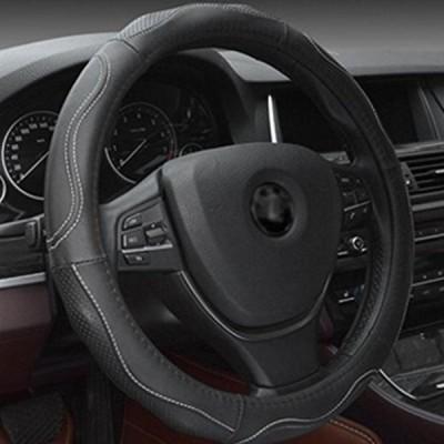 車 ステアリング・ホイール アクセサリー GOUGOU car steering wheel cover Genuine Leather four seasons Car sets Non-slip Breathable , 38CM 正規輸入品